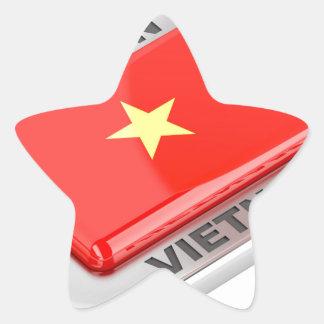 Sticker Étoile Fait dans l'insigne brillant du Vietnam