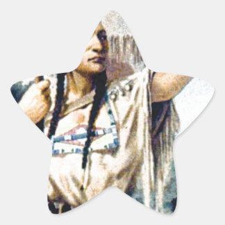 Sticker Étoile femme indienne de squaw