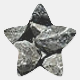 Sticker Étoile fermez-vous du gravier