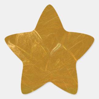 Sticker Étoile Feuille de cuivre de l'or n :  Lotus a gravé la