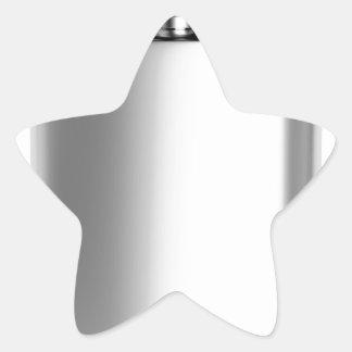 Sticker Étoile Flacon de hanche d'acier inoxydable
