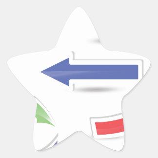 Sticker Étoile flèches