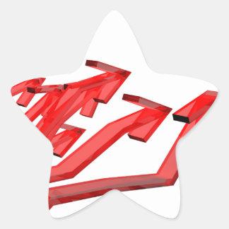Sticker Étoile Flèches rouges