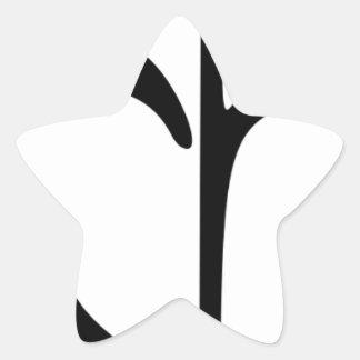 Sticker Étoile Fleur croissante