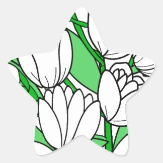 Sticker Étoile Fleur de jasmin