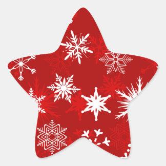 Sticker Étoile Flocons de neige de fête de Noël