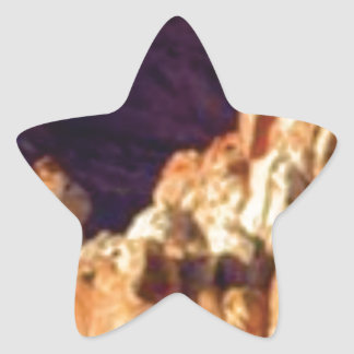 Sticker Étoile formations de roche rouges dans la pierre