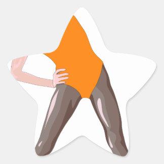Sticker Étoile forme physique 80s