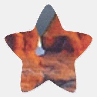 Sticker Étoile formes des roches rouges