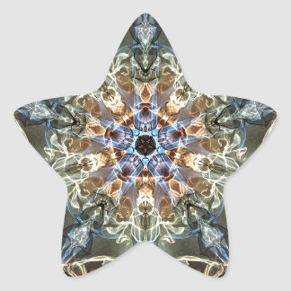 Sticker Étoile Fractales de fantaisie et d'amusement avec les