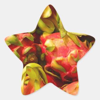 Sticker Étoile Fruit de dragon dans un panier