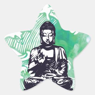 Sticker Étoile Fumée d'émeraude de vague de Bouddha d'ouragan