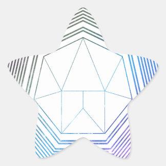 Sticker Étoile Galaxie de polygone