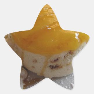 Sticker Étoile Gâteau couvert par confiture de crème glacée
