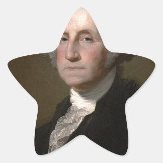 Sticker Étoile George Washington - portrait vintage d'art