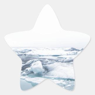 Sticker Étoile Glaciers de l'Islande - blanc