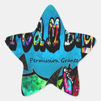 Sticker Étoile Grand collage inspiré rêveur