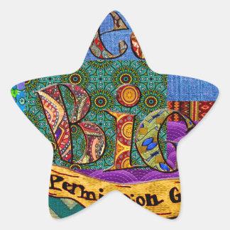 Sticker Étoile Grand collage terreux rêveur