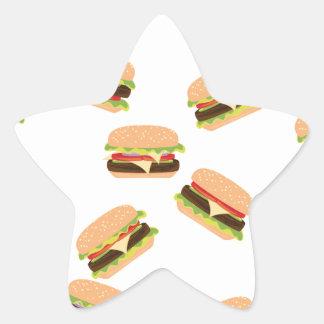 Sticker Étoile Grand hamburger savoureux