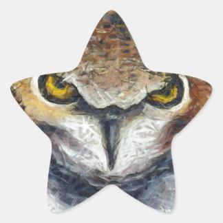 Sticker Étoile Grand hibou grincheux d'oreille