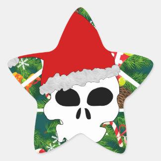 Sticker Étoile grêle père Noël