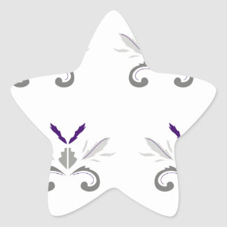 Sticker Étoile Gris blanc d'ornements de luxe