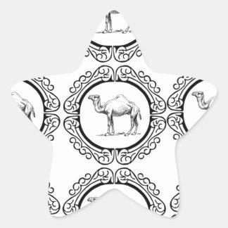 Sticker Étoile Groupe de chameau