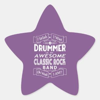 Sticker Étoile Groupe de rock classique impressionnant de BATTEUR