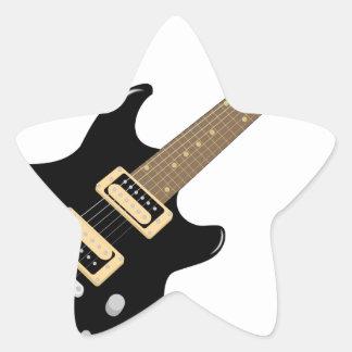 Sticker Étoile Guitare électrique
