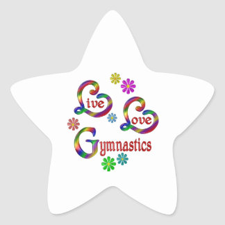 Sticker Étoile Gymnastique vivante d'amour