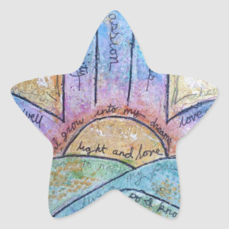 Sticker Étoile Hamsa rêveur