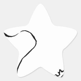 Sticker Étoile Haricot