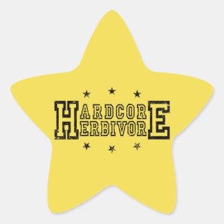 Sticker Étoile Herbivore inconditionnel (noir)