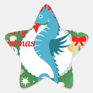 Sticker Étoile hippocampe de Joyeux Noël
