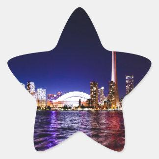 Sticker Étoile Horizon de nuit de Toronto