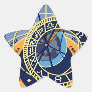 Sticker Étoile Horloge astrologique de Prague