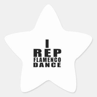 STICKER ÉTOILE I CONCEPTIONS DE DANSE DE FLAMENCO DE REPRÉSENTANT