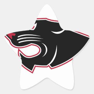 Sticker Étoile Icône agressive de tête de panthère