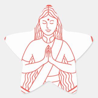 Sticker Étoile Icône de Namaste