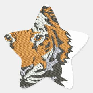 Sticker Étoile imitation de tigre de broderie