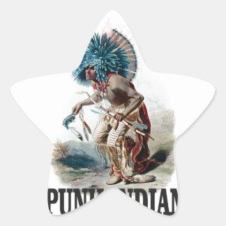 Sticker Étoile Indien punk bleu