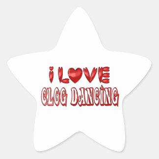 Sticker Étoile J'aime la danse d'entrave