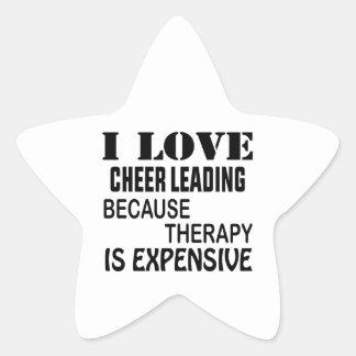 Sticker Étoile J'aime l'acclamation menant puisque la thérapie