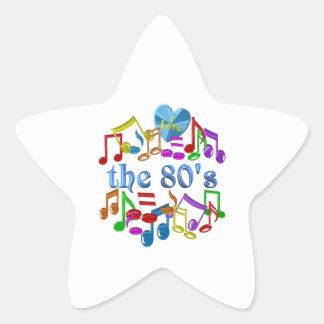 Sticker Étoile J'aime les années 80