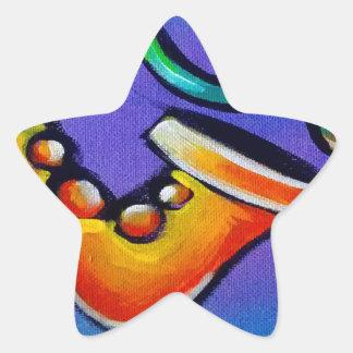 Sticker Étoile Jazz et tambours