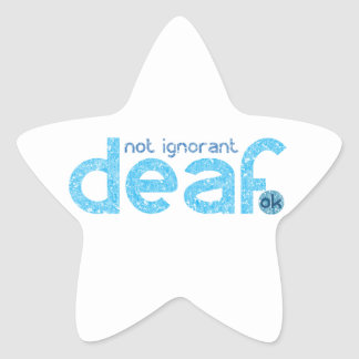 Sticker Étoile Je suis conscience non ignorante sourde