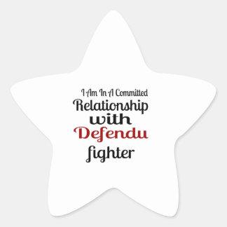 Sticker Étoile Je suis dans un rapport commis avec Defendu Figh