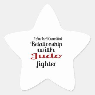 Sticker Étoile Je suis dans un rapport commis avec le combattant