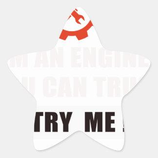 Sticker Étoile Je suis un ingénieur que vous pouvez faire