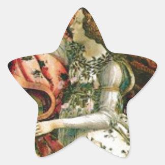 Sticker Étoile jeune fille dans la blanchisserie de robe